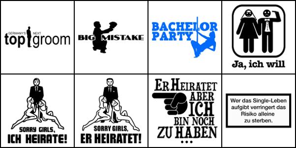 Junggesellenabschied Motive T shirt images